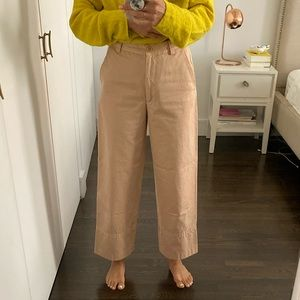Dries Van Noten Wide-Leg Crop Pants Sz 36
